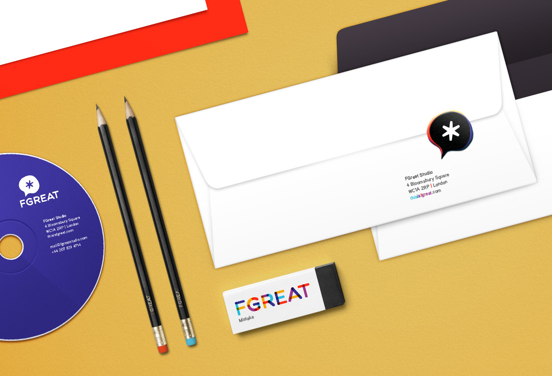 Fgreat studio stationery design