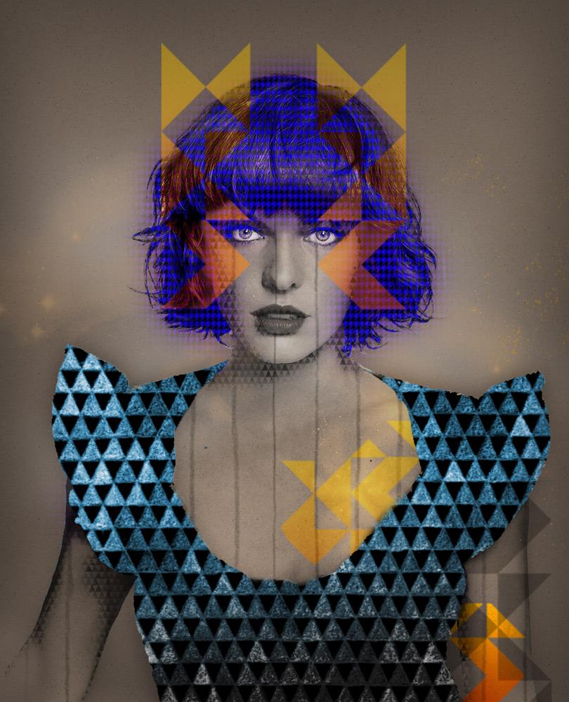 Milla Jovovich illustration