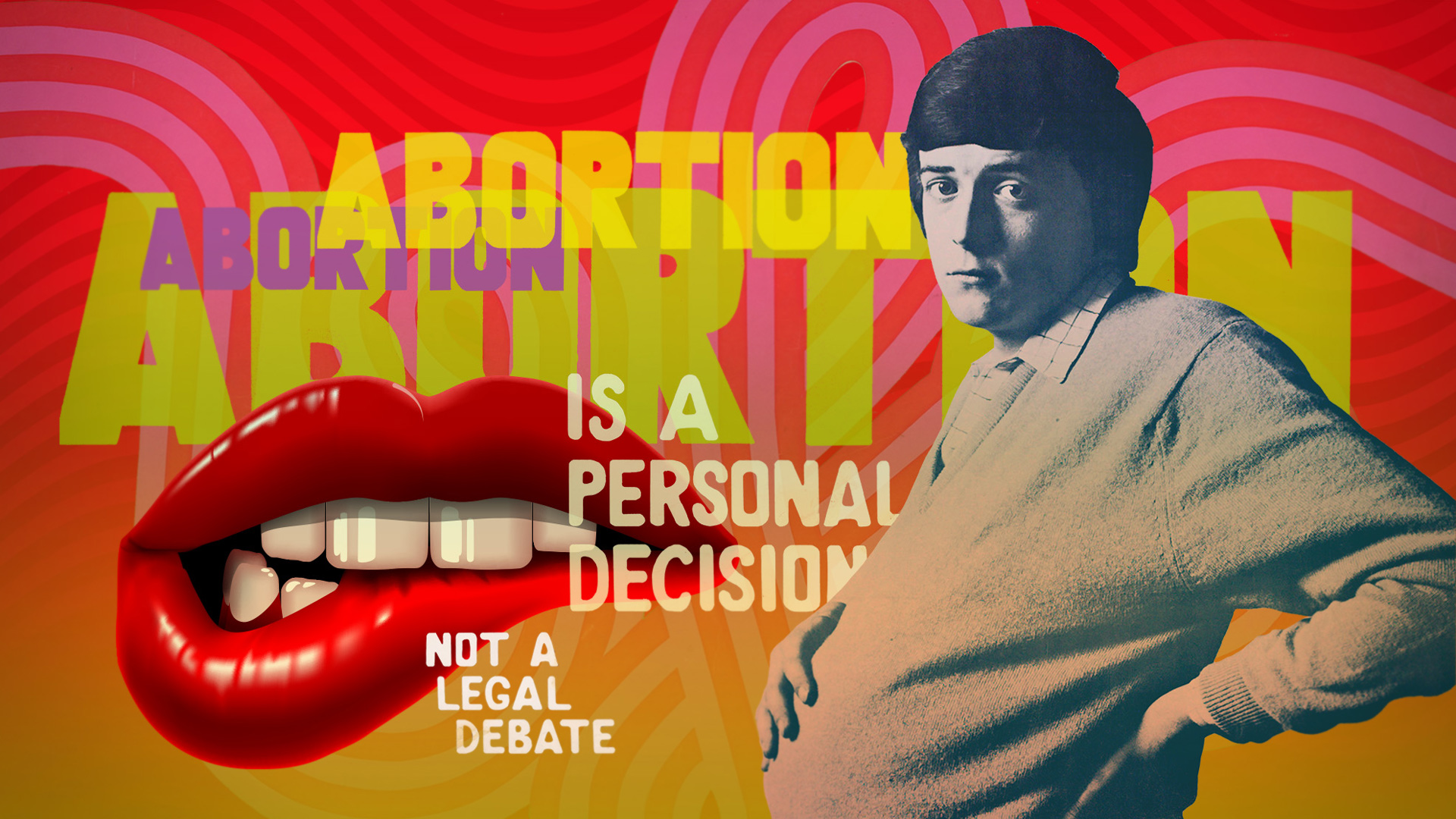 The V&A museum, Revolution exhibition, motion graphics design, london, 60's, sixties, records and rebels, roxanne silverwood, abortion, womens rights, feminism