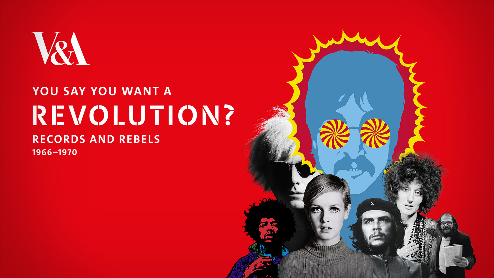 The V&A museum, Revolution exhibition, motion graphics design, london, 60's, sixties, records and rebels, roxanne silverwood, revolution