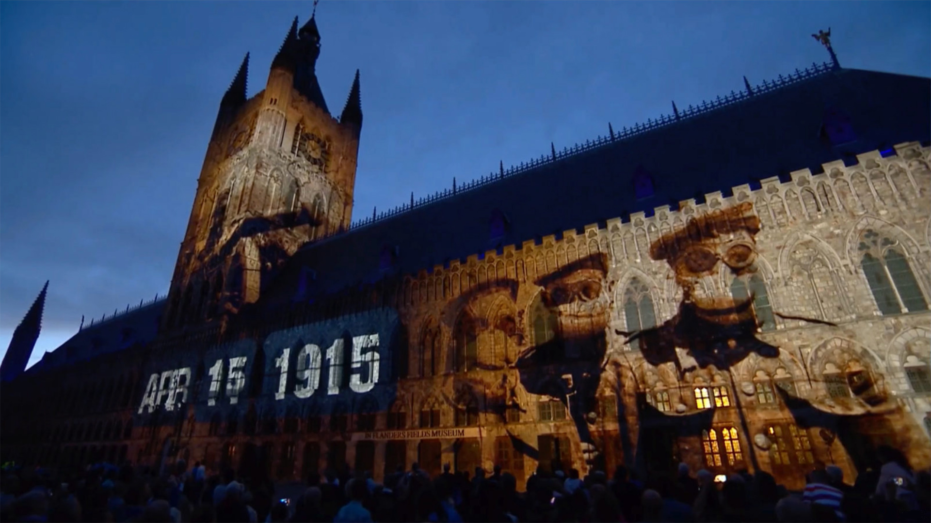Passchendaele 100 WW1 Projection Mapping